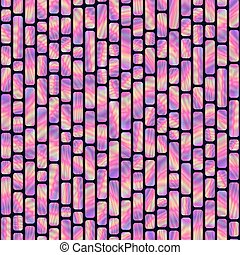 Seamless Pattern of Bright Vertical Holographic Rectangles....