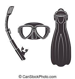 Scuba diving gear.