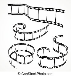 collection of 3d film strips