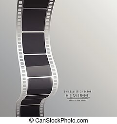 film reel strip vector background