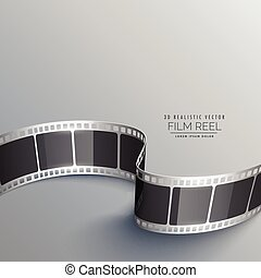 cinema background with 3d film strip