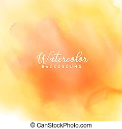 yellow watercolor stain background