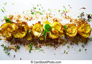 Artichoke roses with truffle and vinaigrette - Artichoke...