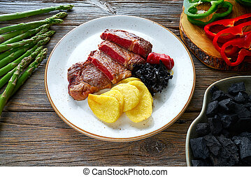 Grilled beef tenderloin - Charcoal grilled beef tenderloin...