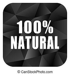 Natural black color web modern brillant design square...
