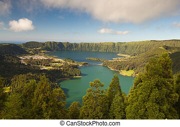 Caldeira - Lake on Sao Miguel on Azores