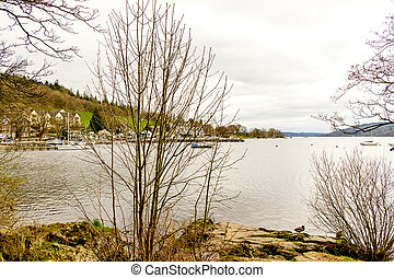 view of lake windermere from ambleside The Lake District,...
