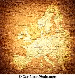 Europe map-grunge artwork