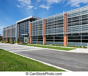 Office building facade - exterior view of contemporary...