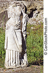 Greek archaic statue torso found at ancient Dion of Katerini...