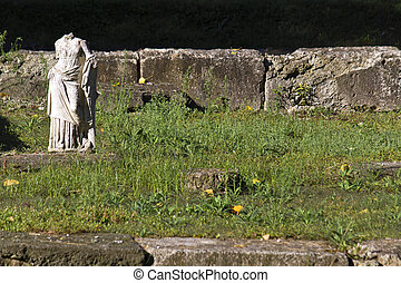 Ancient Dion at Greece - Greek archaic statue found at...