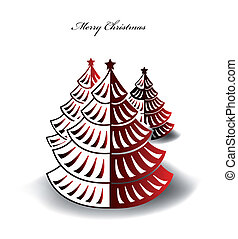 Abstract background with Christmas tree. Vector