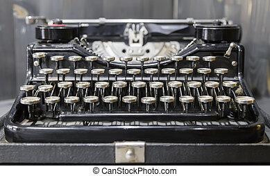 Old standard portable typewriter