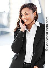 女性実業家, 黒, 電話