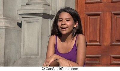 Teen Girl Talking