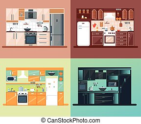 Kitchen Interior Square Composition