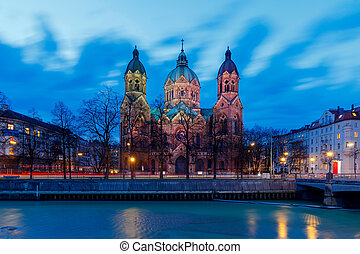 Munich. Church of St. Luke. - Church of St. Luke in the...