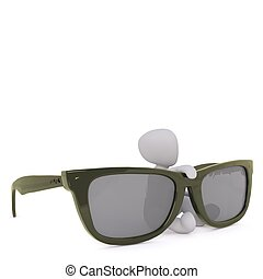 3d man with sun glasses 58