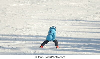 Skier relax at the mountains ski resort - Tourists relax at...