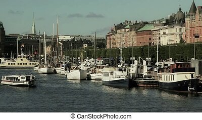 Tourism in Stockholm - Sightseeing boat in Stockholm...