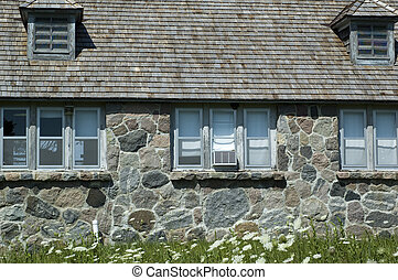 Cottage Detail at Lake Okoboji Iowa in the Summer.