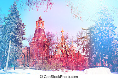 Beautiful view of Kremlin