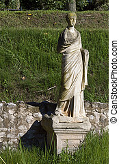 Ancient Dion of Greece - Statue of Goddess Isis at Dion,...