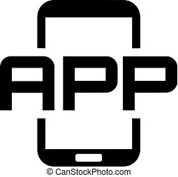 Mobile Application Icon. Flat Design. Mobile Devices and...