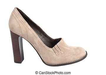 Chamois high-heel woman shoe