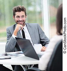 Handsome smiling confident business man portrait - Happy...