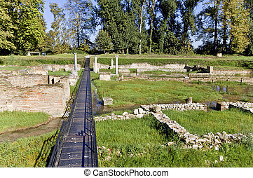 Ancient Dion site at Greece - Archaeological site of ancient...