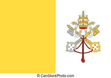 Flag of Vatican City State. Papal States - catholic country...