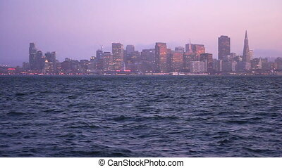 Panoramic San Francisco California Downtown City Skyline...