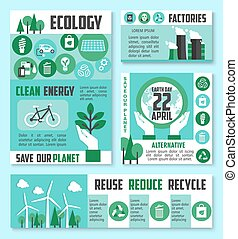 Ecology banner, Earth Day poster template design - Ecology...