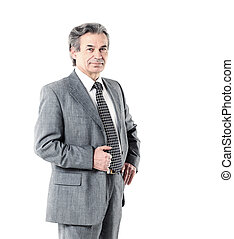 Portrait of an experienced business man aged