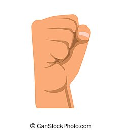 Human raised fist symbol of rebellion, militance, resistance...