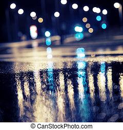 Blurry background - Abstract dark blurry urban background....