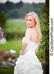 Beautiful bride - A shot of a beautiful caucasian bride...