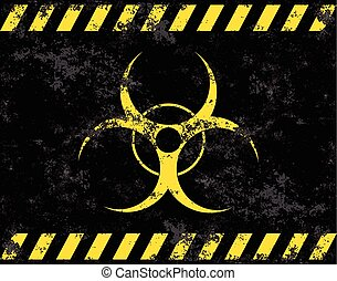 Vector bio hazard - Biohazard symbol. Virus, infection,...