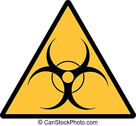 Bio hazard symbol sign - Biohazard sign over white...