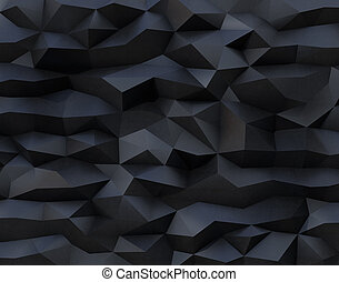Abstract black background with triangulate polygon pattern....