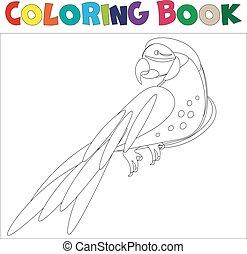 Coloring pages Parrot . Little cute parrot.Vector...
