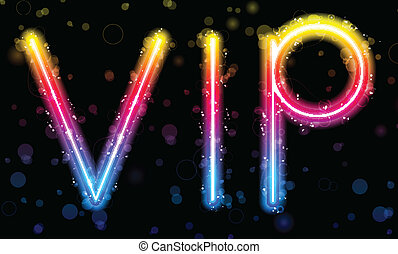 Vector - VIP Very Important People Party Rainbow Lights  Glitter with Sparkles