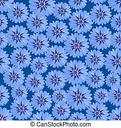 Seamless floral pattern - Seamless pattern with blue...