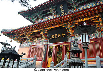 Buddhist temple in China - Beautiful Buddhist temple in...
