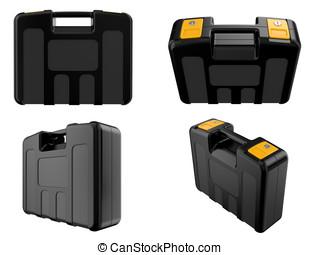 plastic brief case - close up of the plastic brief case on a...