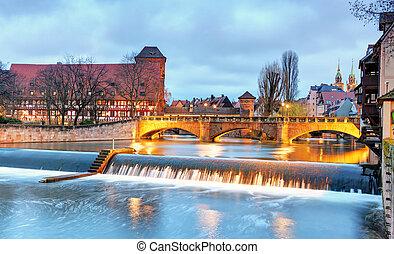 Nuremberg, Germany at Bridge.
