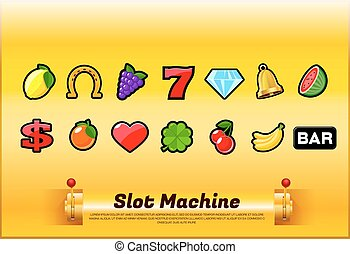 slot machine symbols - slot machine symbol
