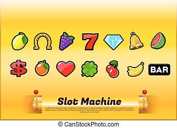 slot machine symbols - slot machine symbol