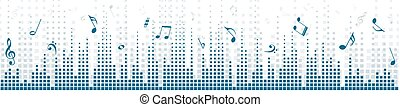 Background with sound scale. - Background with an equalizer...